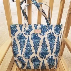 LILLY PULITZER shell beach bag